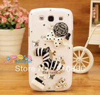 phone case covers for samsung galaxy s3 sIII I9300,zebra crystal star handbag purse bowknot perfume ,bling rhinestone ,3colour