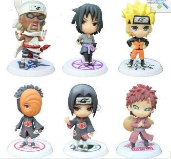 6pcs Cute Anime Naruto Hatake Kakashi  Uzumaki SASUKE Cosplay plush action Toy figure Animal Doll gift