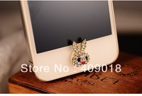 Free Shipping - wholesale phone button sticker  RABBIT    f 6739