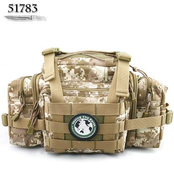5 Color Choice High quality Outdoor Multifunctional Waist Bag Tactical Camouflage bag Fishing Bag,Lure Bag,Camo Bag Travel bag