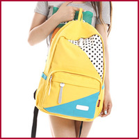Female canvas school bag preppy style fashionable casual bag double-shoulder computer backpack
