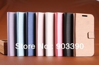 2013 Hot Sale Luxury Wallet Leather Case for samsung galaxy s4 i9500 With Stand Brushed Leather Case for s4 i9500 free shipping