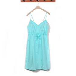 European and American sky blue fashion simple leisure household Skirt Dress Lingerie(China (Mainland))