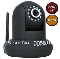Genuine Foscam black FI9821W New HD H.264 webcam Pan Tilt SD Card Ip camera IP Security Camera IR 1280*720 HD SG/HK POST