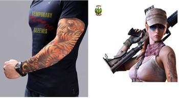 10 pcs/lot!140 styles,Novelty tattoo Most fashion and novelty body arm stockings body tattoo sleeve!