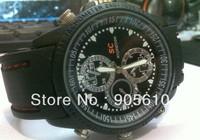 Waterproof HD video 1280x960&photo 3264*2448 built in 8GB hidden camera watch camera Dvr wrist watch with retail box