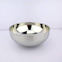 Stainless steel soup bowl noodle bowl powder bowl super large bowl of rice double layer anti-hot bowl