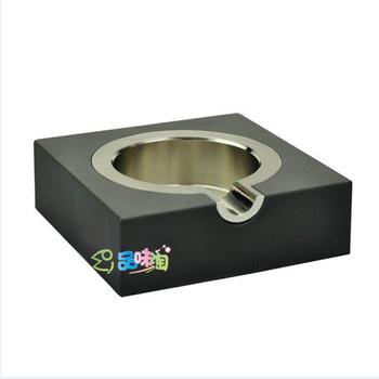 Petit ashtray wooden balza single nobility silver ashtray man's gift