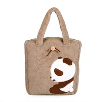 free shipping Cartoon panda one shoulder plush bags large size gift girlfriend gifts