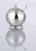 Stainless steel mirror sugar bowl fashion spice jar candy box seasoning box sauce pot
