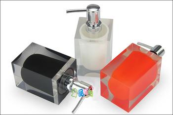 Double layer square resin emulsion bottle soap dispenser bath bottle detergent bottle hand sanitizer bottle