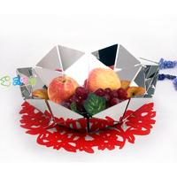 Stainless steel watercubic fruit plate fashion home basket stainless steel fruit plate