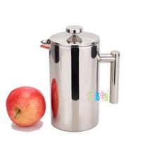800ML Massifs 304 stainless steel double layer french pressure pot tea maker coffee pot tea pot