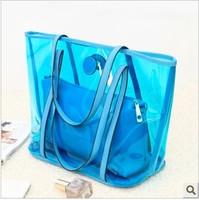 As01 2013 autumn candy color transparent jelly bag handbag shoulder bag women's handbag