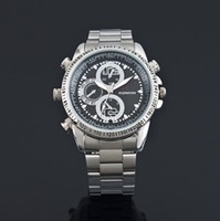 Top selling! real built-in 8GB Waterproof Watch mini camera Clock DVR Free Shipping