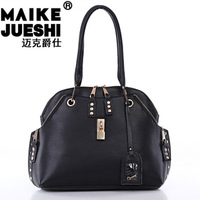 Free shipping,  2013 fashion female leather bags and brand designer genuine leather, messenger leather bag