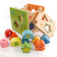 Multi-colored Intellectual Box Children Toy Educational Toys Wooden Forge World Model Building Kits