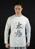 TaiJi Tai chi Classic Long-Sleeved T-shirt Tracksuits Martial Arts WuShu Kung Fu 100% Cotton Tee Shirt