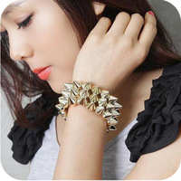 Ob0142 fashion accessories spike hedgehogs3 rivet bracelet strap fashion punk bracelet 46g