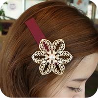 Oh0354 accessories gentlewomen cutout flower hair accessory hair accessory hairpin side-knotted clip 9g