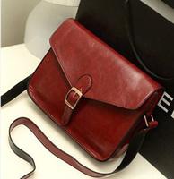 2013 one shoulder cross-body women's handbag fashion vintage small bag Wine red bags