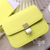 Free shipping 2013 bags vintage neon color lockbutton small bag one shoulder cross-body women's handbag bag