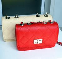 2013 women's handbag one shoulder plaid chain bag small sachet horizontal fashionable casual mini-package plaid