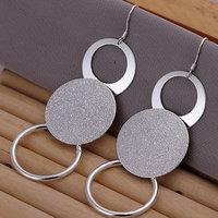 E012 Wholesale 925 silver earrings, 925 silver fashion jewelry, O Earrings