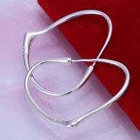 E028 Wholesale 925 silver earrings, 925 silver fashion jewelry, Heart Plate Earrings Men, Women ,zircon, africa earrings