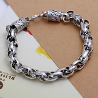H024 Wholesale! 925 silver bracelet 925 silver fashion jewelry charm bracelet  Bracelet Men,Women, charms