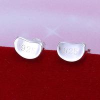 E059 Wholesale 925 silver earrings, 925 silver fashion jewelry, Bean Earrings 18k, Plated.Gold ,Women ,zircon