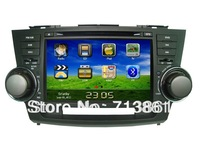 "8"" for Highlander (2009-2011) 2DIN car dvd player,GPS,IPOD ,BT,phonebook,RDS,TV,radio,wince 6.0,2 zone,free map,Russian,Eng"