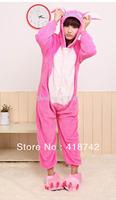 NEW Adult Kigurumi Animal Sleepsuit Pajamas Costume Cosplay Onesie Stitch Pink
