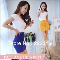 2013 vintage lace bowknot splicing high temperament pockets hip skirts