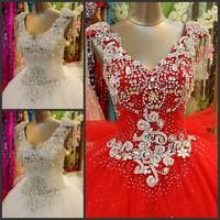 2013 New Arrival Hot Sale Floor-Length V-Neck Custom Made Cheap Lace Up Wedding Dress/Wedding Gown/Bridal Wedding Dress