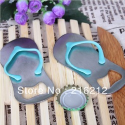 Wine opener HIGH QUALITY 'Pop the Top' nice flip flop bottle opener wedding favors,gift packaging(China (Mainland))