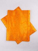 African Fabric Sego Headtie 2 Yards Orange ht0354_7