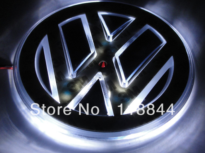 Free shipping vw car sticker LOGO lamp series of specialized automobile lights LED badge light stickers(China (Mainland))