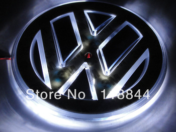 Free shipping vw car sticker LOGO lamp series of specialized automobile lights LED badge light stickers