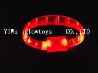 wholesale led  blinking soft rubber Stage Bracelet lots