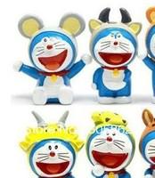 Creative Doraemon animal keychain/cartoon keychain/6pcs per set/great gift   A0429