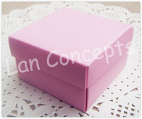Free shipping DIY Wedding Favors Box Paper Candy Box Gift Box Party Favor Box - 6.5 x 6.5 x 4cm 120pcs/lot LWB0243 pink