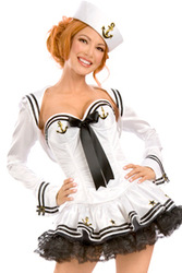 Perfect Navy Costume LC8561+ Cheaper price + Free Shipping Cost + Fast Delivery(China (Mainland))