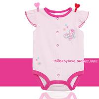 Free Shipping Butterfly baby triangle climbing 100% cotton bodysuit romper baby newborn Summer Wear