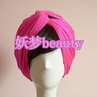 Fashion cross handmade rose red wide ribbon towel hair band toe cap covering towel headband