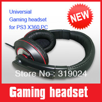 Amplified Wired stereo  video gaming headset with great bass, with the background sound effect for PS3 XBOX360 PC