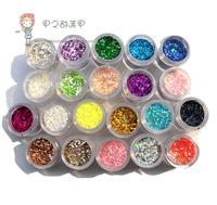 Nail art glitter shining paillette powder laser powder nail art tools chromophous 10g