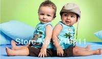3sets- Baby Boys' Clothes Set(palm print vest + pants) Kids/Toddler Summer Suits, 849