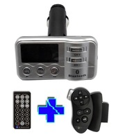 Free Shipping!!Silver color Car Bluetooth FM MP3 Transmitter Noise Suppression+RDS+Full Remote Control+USB