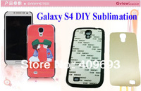 S4 i9500 DIY sublimation case  with aluminium metal sheet with adhensive, Phone case 50pcs/lot DHL or fedex free shpping